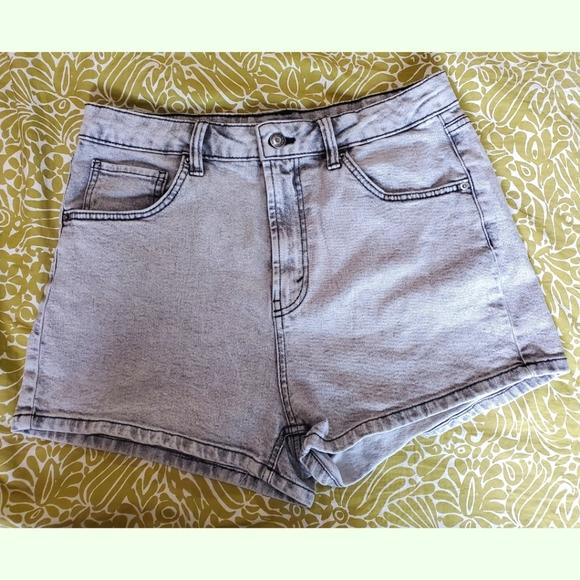 🔥 EUC Whitewashed High-Waisted Shorts